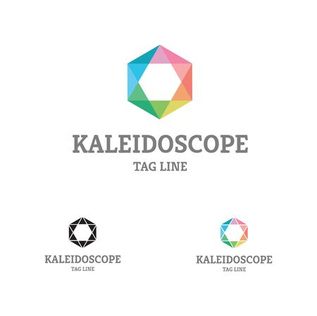 Kaleidoscope Comb Flat design with colorful kaleidoscope palette, could be used in many different categories, any company or organization.