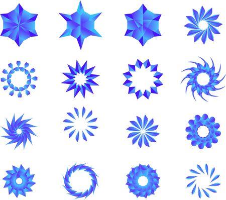Blue Stars, Mandala, Flowers, Snow Flakes Pack.