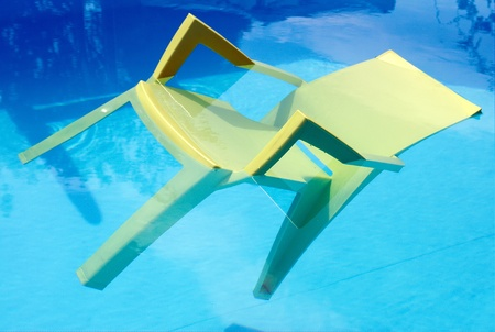 A Chair in a Swimming Pool