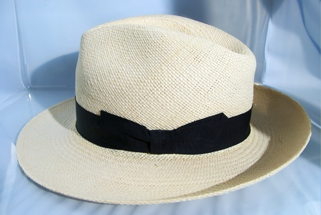 Panama Hat with shiny white background photo