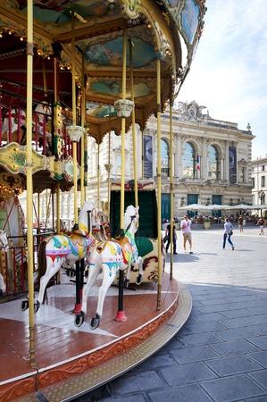 フランス、モンペリエのカルーセル
