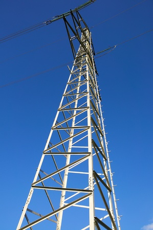suppliers: Clear Sky For Electric Suppliers - Electric Post against Blue Sky