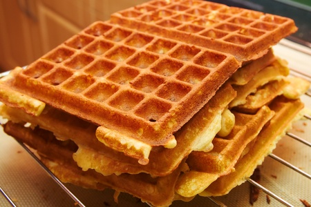 Baking Brussels Waffels Take 4 photo