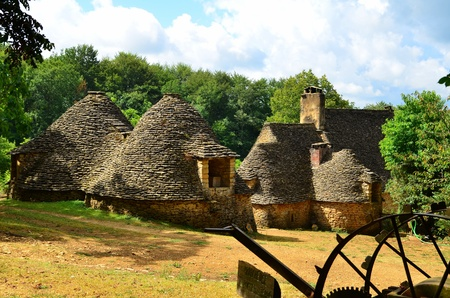 Historical Farm cabanes du Breuil in the Dordogne, France Stock Photo - 15131717