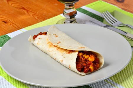 vegetarian fajitas mexican food Stock Photo