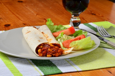 vegetarian fajitas mexican food photo