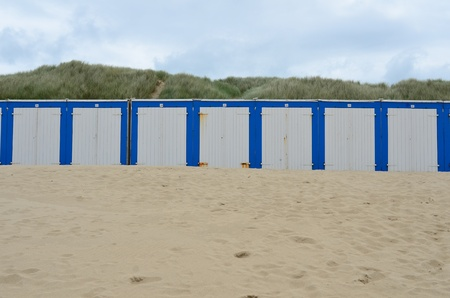 Beach cabines in Domburg, Zeeland, Holland Stock Photo