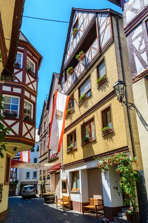 fachwerk: Urzig, Germany 5 June 2015: Wine village in  the Moselle valley