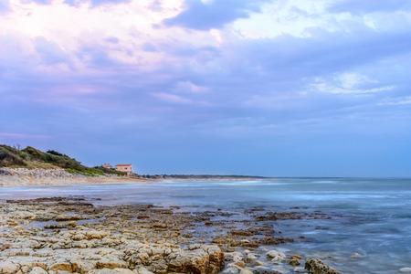 Ile dOleron,France coastline at sunset near La Cotiniere, Charente Maritime