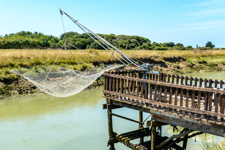 Fishing net on Oleron island, Charente Maritime, France