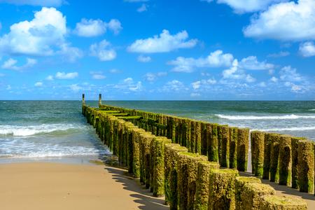 breakwaters: Breakwaters on the beach in Domburg, Holland