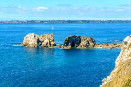 プレスク イル デ crozon、ブルターニュ、近くにはモルガ シュル メールで海フランス