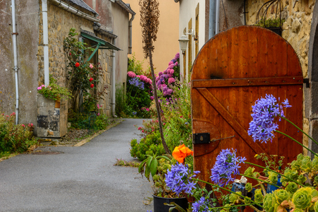 L e フレット、ブレスト、フィニスター、フランスにフェリーとブルターニュの村
