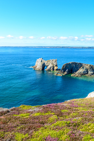 Sea at Camaret-sur-Mer, Presque ile de crozon, Brittany, France Stock Photo