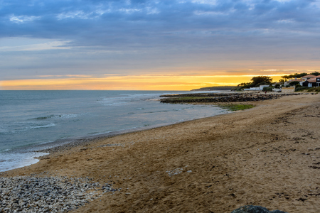 evening at Jard-sur-Mer, Vendee, France Stock Photo - 88449342