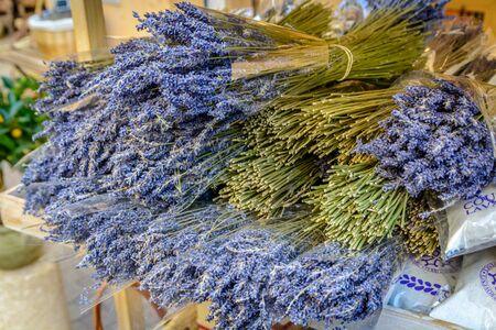 Lavender in shop in Provence, France Stock Photo