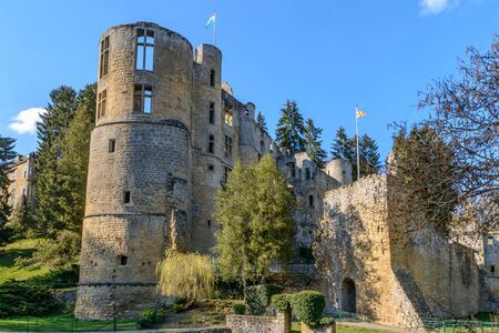 The old castle of Beaufort in Mullerthal, Luxembourg Stock Photo