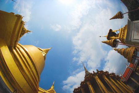 pubic: Thai pubic temple circle fisheye