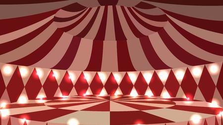 Empty circus scene