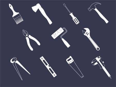 compas de dibujo: Conjunto de instrumentos de icono