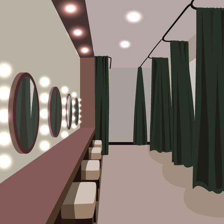 Interieur kleedkamer Stock Illustratie