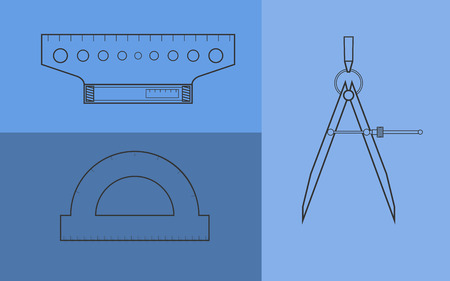 Drawing instruments set