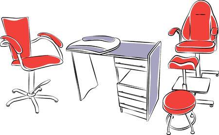 manicurist: Salon furniture set