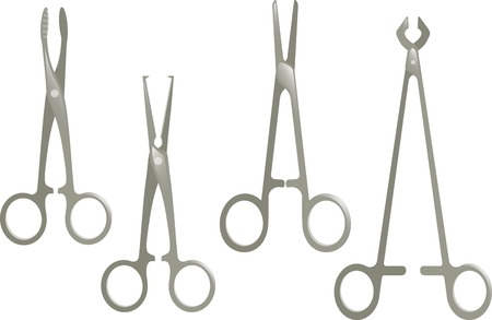 medical scissors Illustration