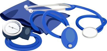 Stethoscope tool illustration. Illustration