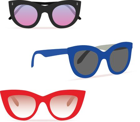 Optical glasses set Vector illustration.
