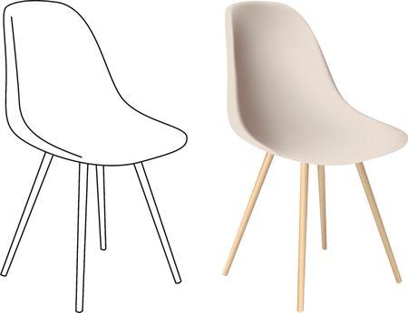 3D-modellen stoel