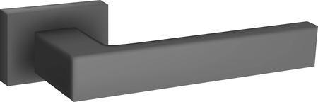 3D illustration of steel door handle