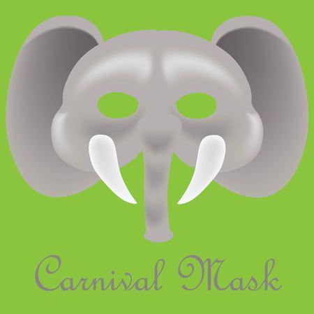 Elephant carnival mask.