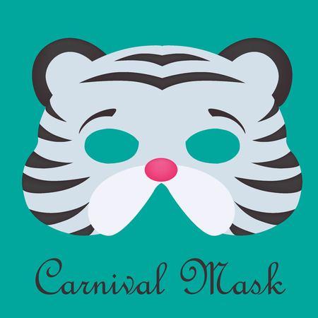 Animal carnival mask. Ilustração
