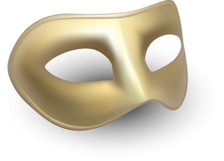 Carnival golden mask illustration
