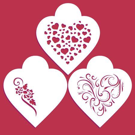 Love stencil set Ilustração