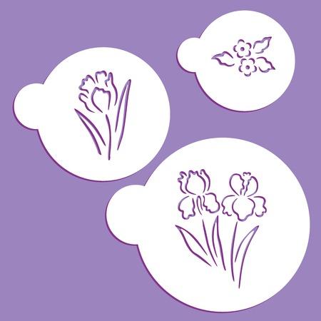 Spring stencil Ilustração