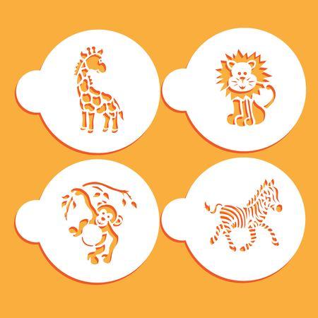 Animals stencils Stock Illustratie
