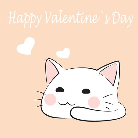 Love kitten isolated in background