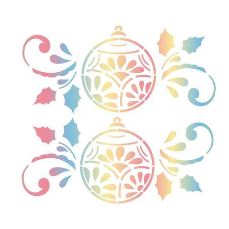 Christmas balls gradient art design