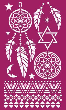 Indian ornament stencils art design