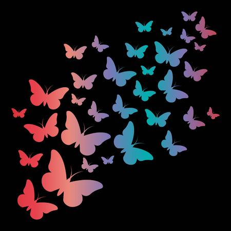 Butterfly gradient stencil. Illustration