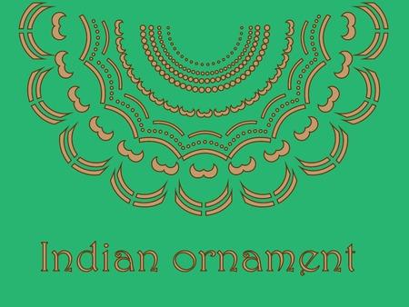 Indian ornament stencils art Vector illustration.