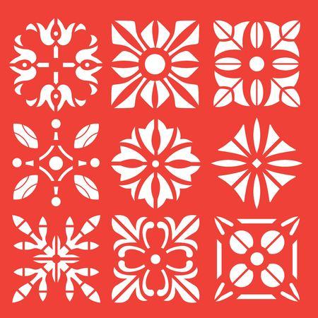 Floral ornament stencil