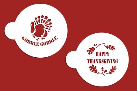 Thanksgiving coffee stencils