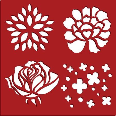 Flowers stencils art