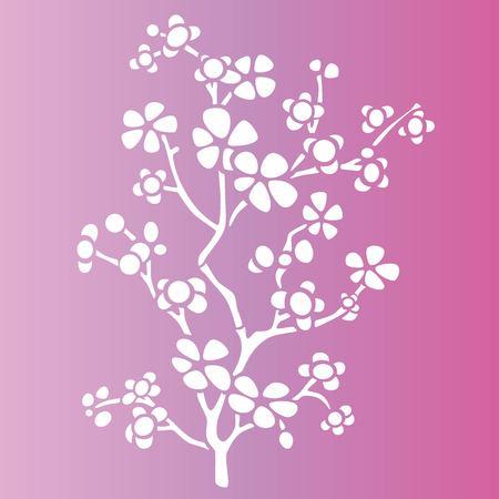 Sakura tree stencil