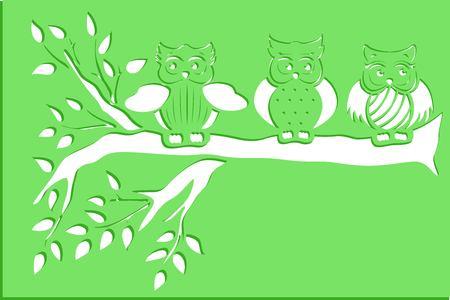 owl stencils art Ilustração
