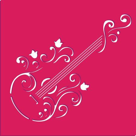 Guitar stencil art Banco de Imagens - 99598816