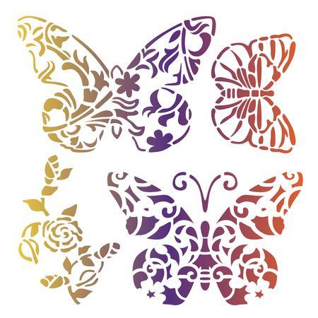 Butterfly stencils art